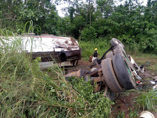 Fuel Tanker Crashes As Residents Rush With Gallons (Photos)