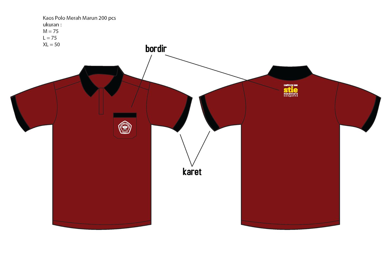 Desain Kaos Berkerah Polos Depan Belakang Klopdesain