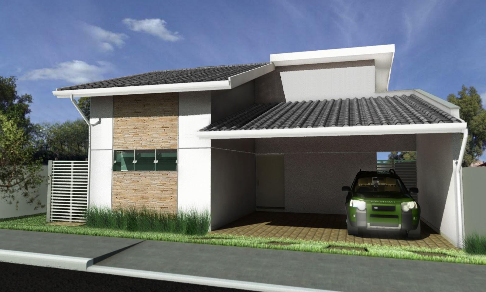 Fachadas para casas pequenas e modernas 40 fotos toda for Fachada de casas modernas lujosas