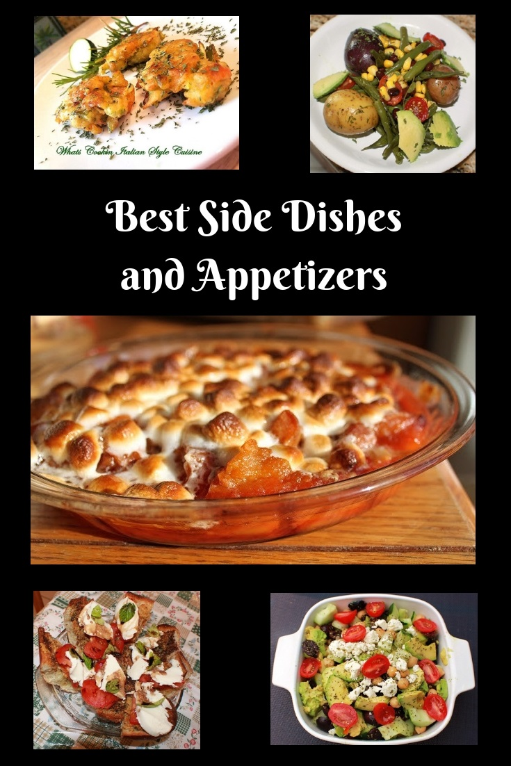 this is a recipe roundup of best side dishes and appetizers for all holiday and meal planning.