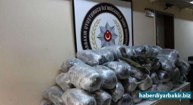 DİYARBAKIR-Diyarbakır'da uyuşturucu satıcılarına yönelik 29 Mart ile 9 Nisan 2017 tarihlerinde yapılan 22 ayrı operasyonda, 2 ton 658 kilodan fazla uyuşturucu ele geçirildi. operasyonda ayrıca 15 kişinin tutuklandığı bildirildi.