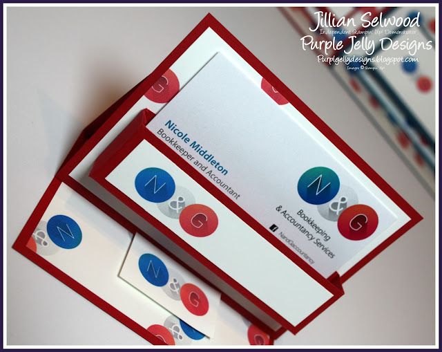 N&G Bookkeeping and Accountancy Services Real Red, Personalised Business card holder