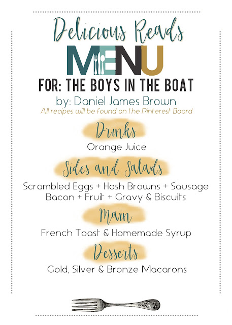 The Boys in the Boat Food Menu