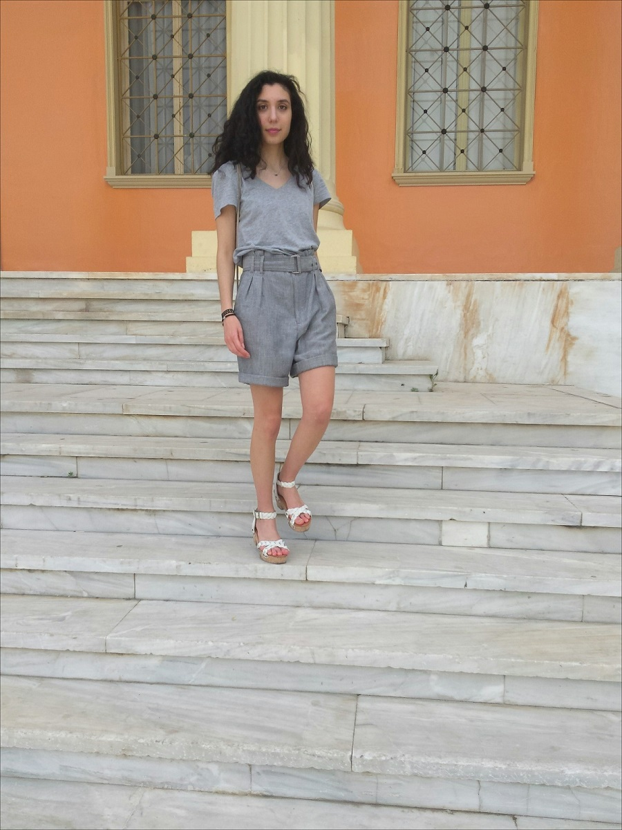 Transitional Dressing from Spring to Summer:All Grey - www.theblushfulhippocrene.blogspot.com