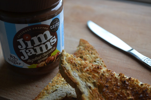 jim jams hazelnut chocolate spread on toast