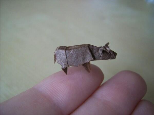 Miniature origami art