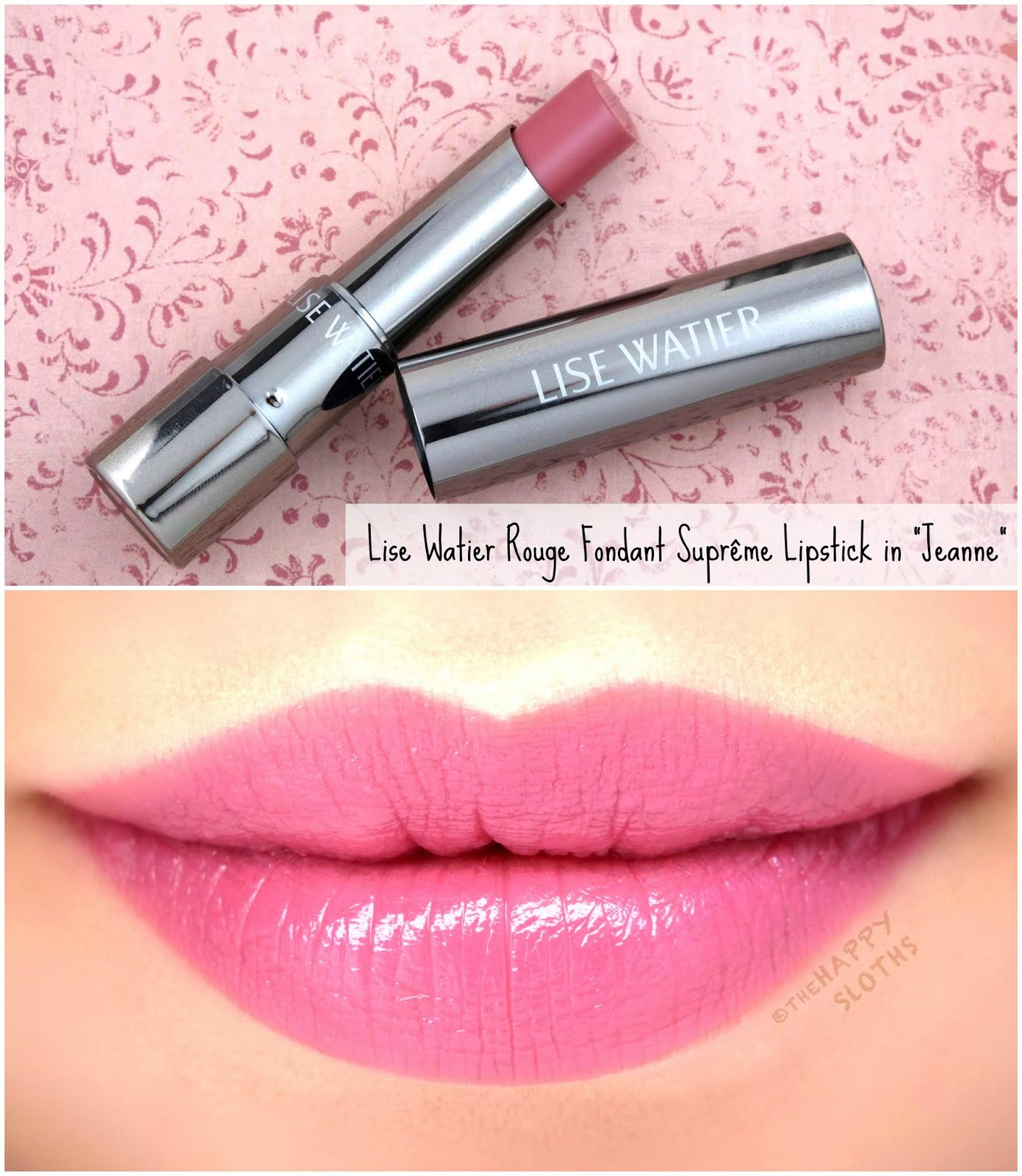 "Lise Watier | *NEW SHADES* Rouge Fondant Suprême Lipstick in ""Jeanne"": Review and Swatches"