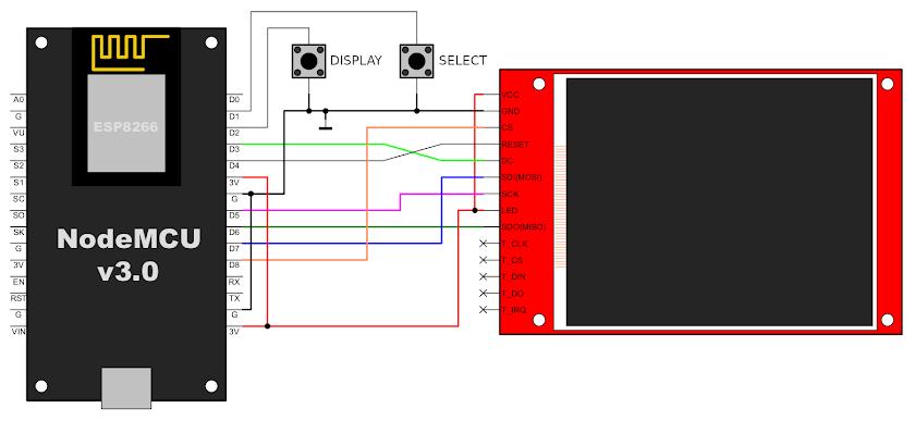 ESP8266 WiFi analyzer schematic