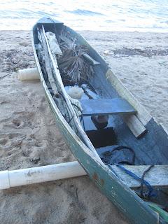 Belizean sailing dugout canoe