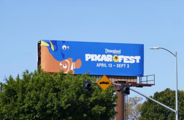 Finding Nemo Disneyland Pixarfest billboard