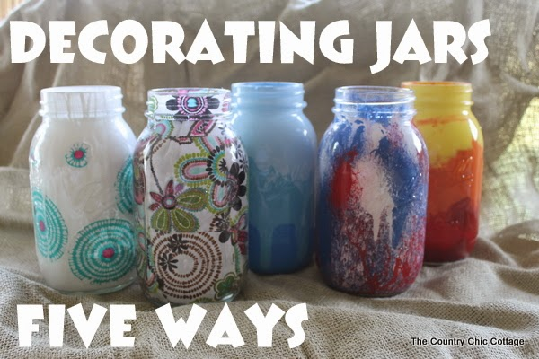 Kids DIY jar decorating