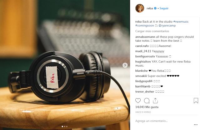 Reba de nuevo en el estudio de grabación?