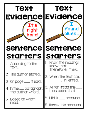 This blog post contains these free text evidence bookmarks plus a free reading passage!