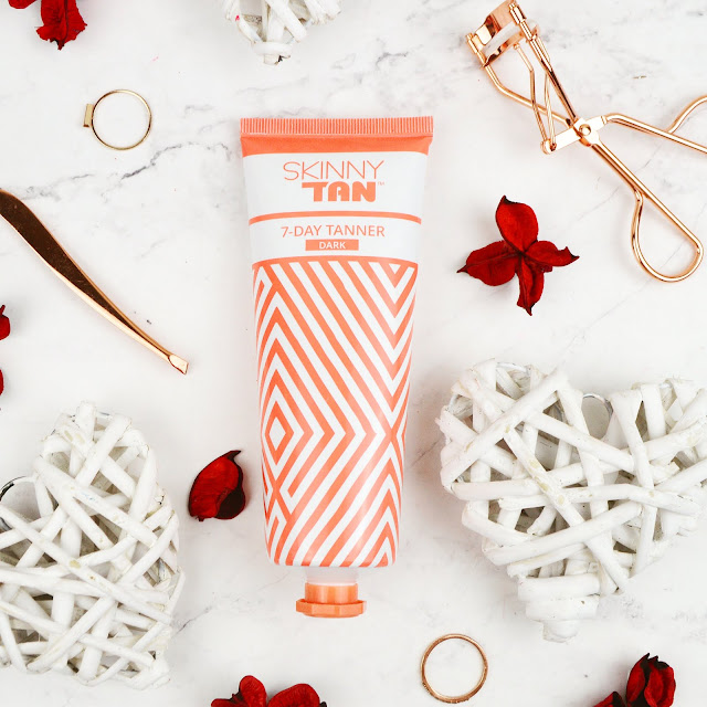 Lovelaughslipstick Blog - Valentines Day Gift Box & Review of Skinny Tan - New After Glow Gloss and 7 Day Tanner in Dark