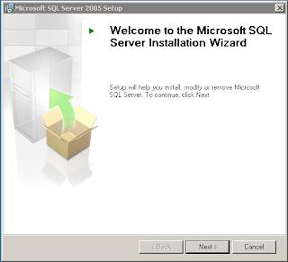 Bagaimana cara install SQL Server 2005 Express