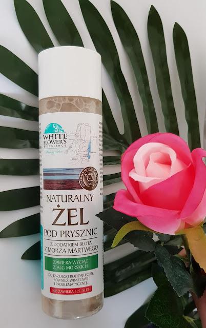 White flowers naturalny żel pod prysznic z dodatkiem błota z morza martwego
