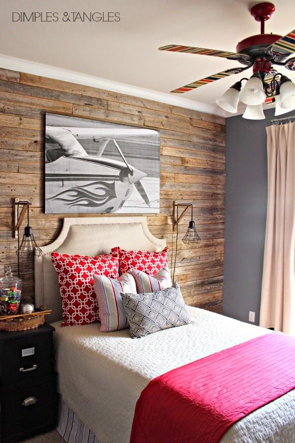 Rustic Modern Bedroom Ideas Wood Feature Walls On Feature: TEEN BOY'S RUSTIC TRADITIONAL MODERN BEDROOM REVEAL