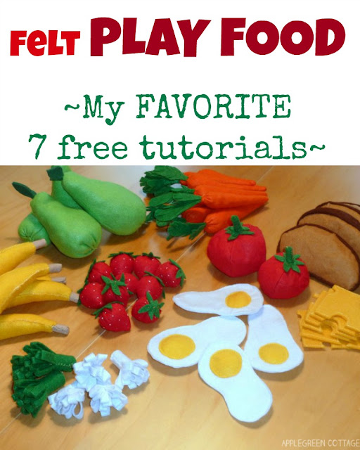 My favcorite 7 felt fruit and vegetables tutorials for beginners. Lots of fun!