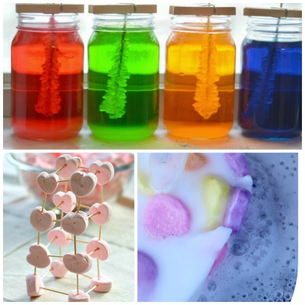 16 LOVELY Science experiments for Valentine's Day.  My kids loved these!