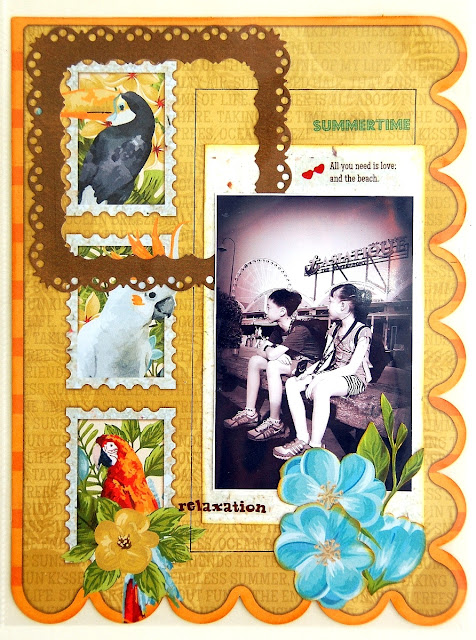 Special Memories Misc Me Pages by Irene Tan using BoBunny Beach Therapy Collection