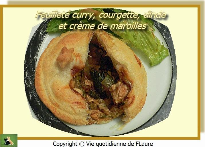 Vie quotidienne de FLaure: Feuilleté curry, courgette, dinde et crème de maroilles