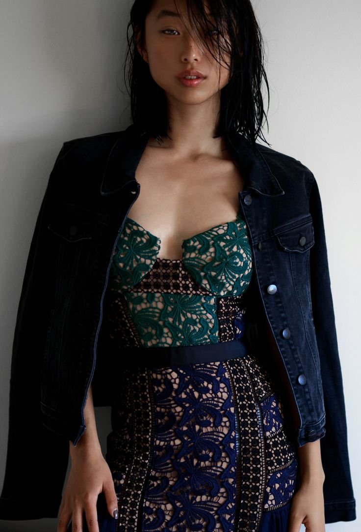 Margaret Zhang Self-Portrait Blue Paneled Dress