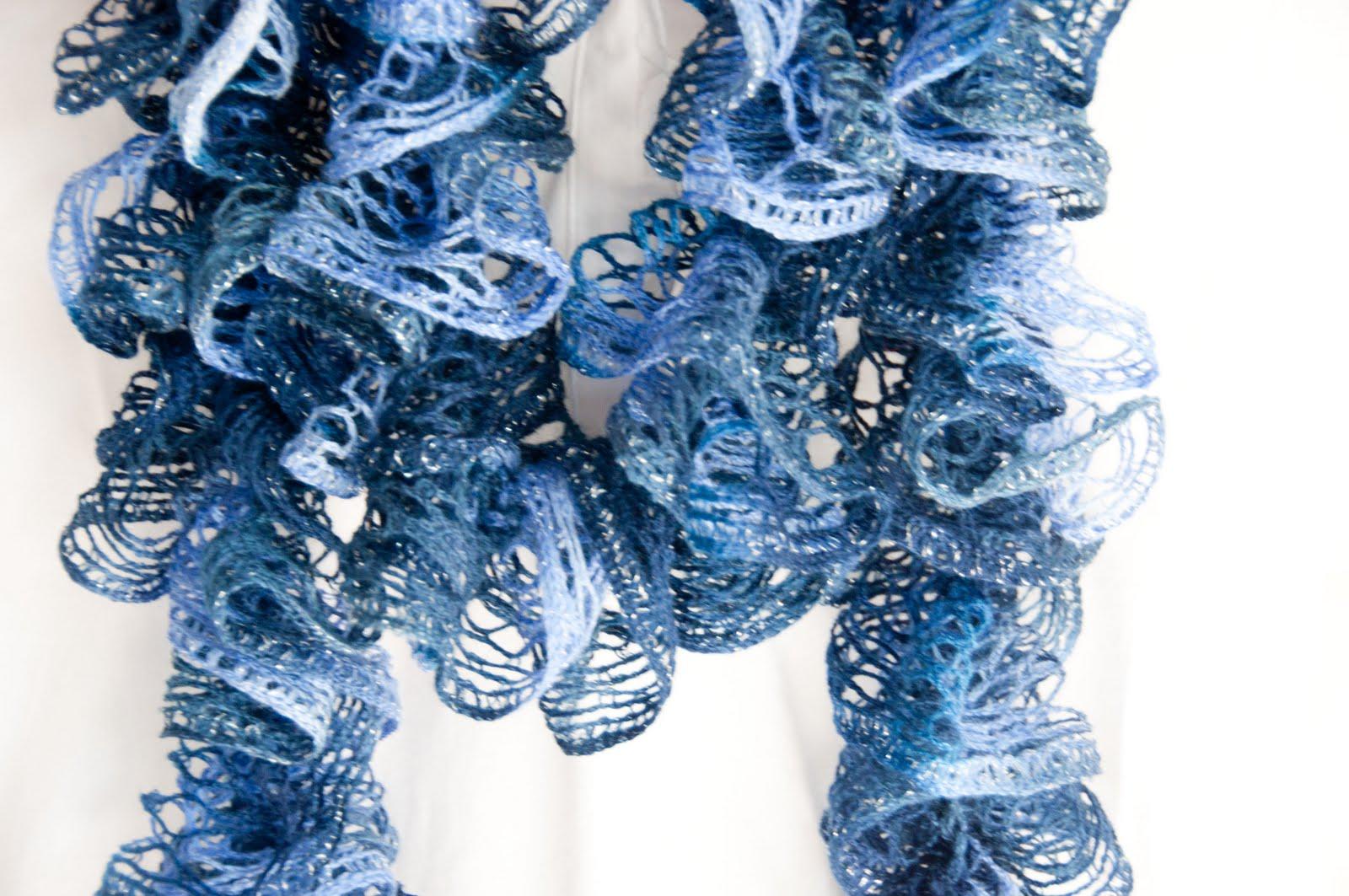 RUFFLE SPIRAL CROCHET SCARF PATTERN  Easy Crochet Patterns