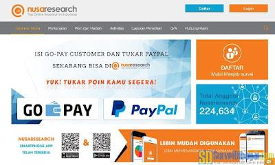 Nusaresearch sekarang bisa tukar poin dengan PayPal | SurveiDibayar.com