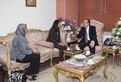 محافظ بني سويف يبحث مع رئيسة المجلس القومي للمرأة تفعيل مشاركة المرأة السويفية في التنمية