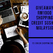 Giveaway RM1000 Shopping Credit SGshop Malaysia By Lokmanamirul