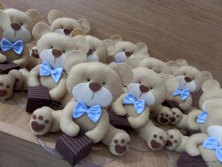 ursinho para decoração de mesa