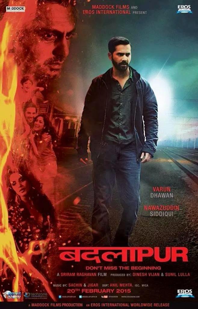 Varun Dhawan standing on track in Badlapur movie poster