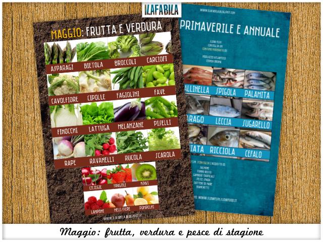Maggio: frutta, verdura, pesce (e conserve) di stagione