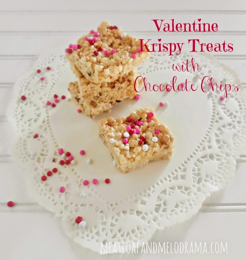 Easy to make Valentine Treats - Krispy Treats the kids will love!
