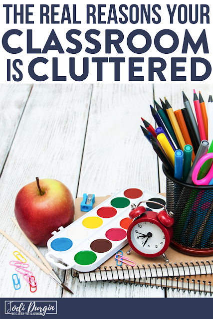 Calling all elementary teachers with cluttered classrooms! You NEED to check out this blog post written by Clutter-Free Classroom. It will help you declutter and organize your classroom so that you can get the classroom of your dreams! Take back your room today! #clutterfreeclassroom #declutter #elementaryclassroom