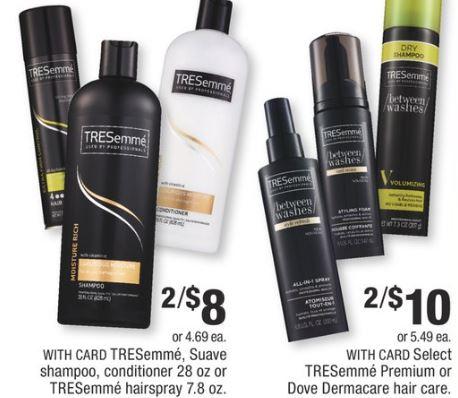 TRESemme Shampoo, Conditioner or Dove