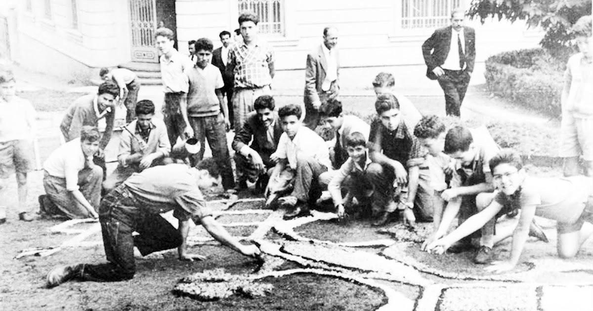Efem rides la alfombra del colegio de santo tom s de - Los anos cincuenta ...