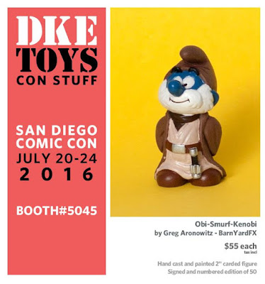 San Diego Comic-Con 2016 Exclusive Obi-Smurf-Kenobi Resin Figure by Greg Aronowitz of BarnYardFX x DKE Toys