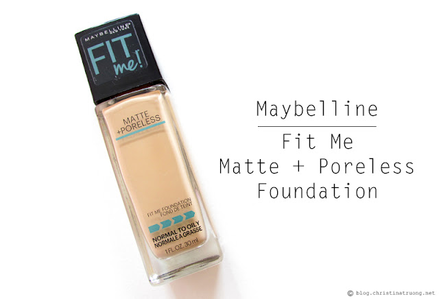 Best of 2017 - Maybelline Fit Me Matte + Poreless Foundation Review Swatch