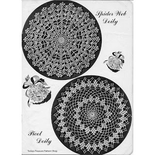 Vintage Crocheted Doilies Pattern