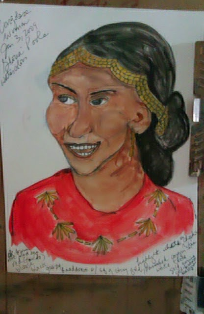 """Congolese woman"" ethnic sketch by Gloria Poole of Missouri"