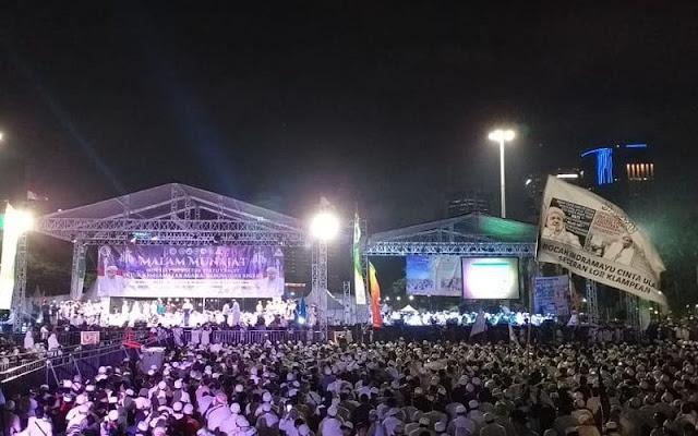 TKN Kritik Munajat 212, BPN: Kasihan, Acara Pak Jokowi Sepi Terus