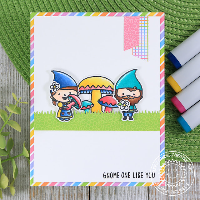 Sunny Studio Stamps: Home Sweet Gnome Card by Juliana Michaels
