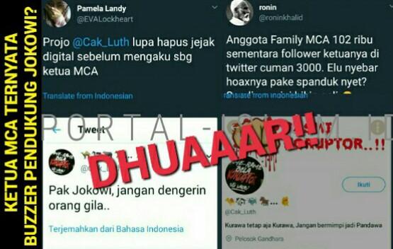 Warganet: Lupa Hapus Jejak, Ketua The Family MCA yang Ditangkap TERNYATA Bagian dari Relawan Jokowi?
