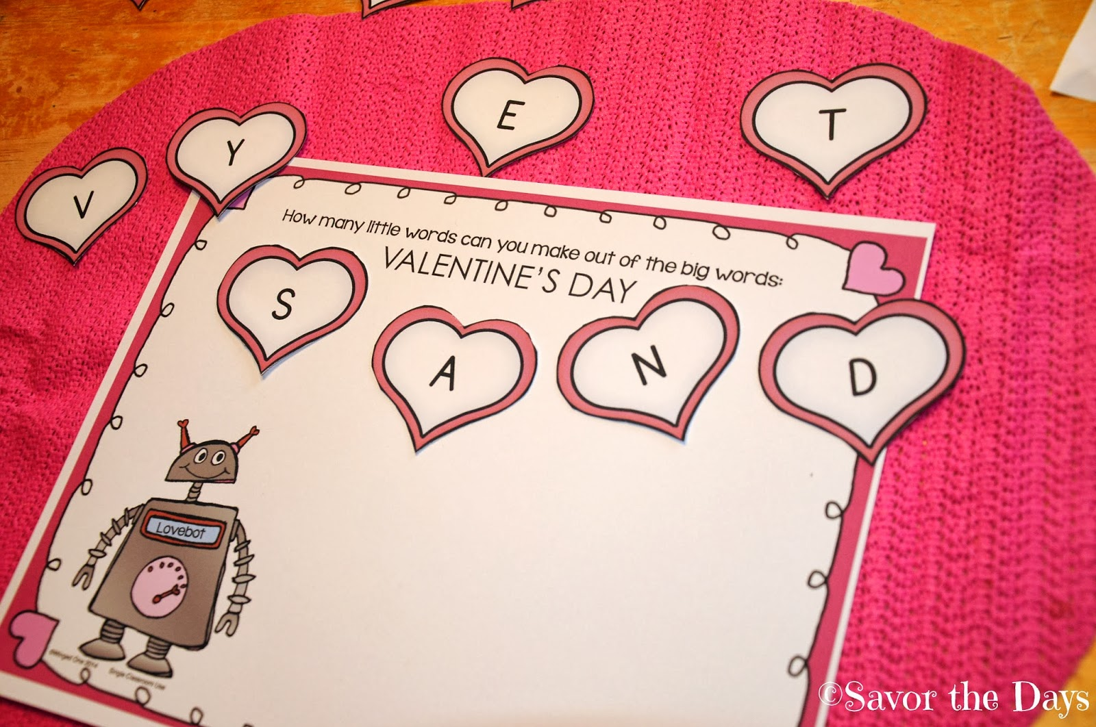 Savor The Days Free Valentine Activities For Homeschoolers