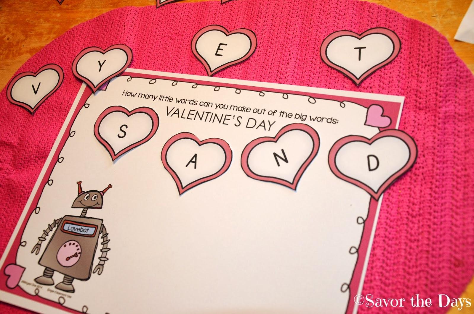 Savor The Days Free Valentine Activities For Homeschoolers