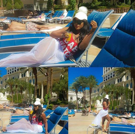 Daniella Okeke flaunts bikini body in Vegas (Photos) 1