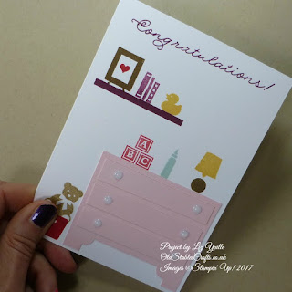 Bookcase Builder Baby Card with Chest of Drawers