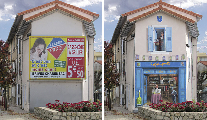 French Artist Transforms Boring City Walls Into Vibrant Scenes Full Of Life - La guinguette