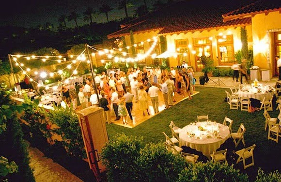 Image result for dancing at a backyard wedding reception